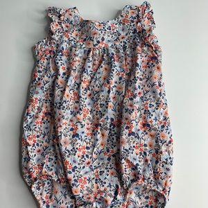 Osh Kosh One-Piece Body Suit Floral Shirt Cotton